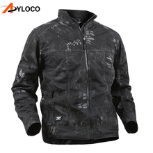 New Tactical Hooded Camouflage Jackets Men Outdoor Hiking Coat Waterproof Army Windbreaker Military Jungle Jacket Outerwear autumn m65 jungle hooded jacket outdoor hiking hunting detachable liner windbreaker army tactical windproof waterproof coat