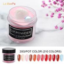 LaMaxPa 20gram Colorful Dipping Powder Without Lamp Curing Natural Dry Nails Dip Summer Gel Nail Color
