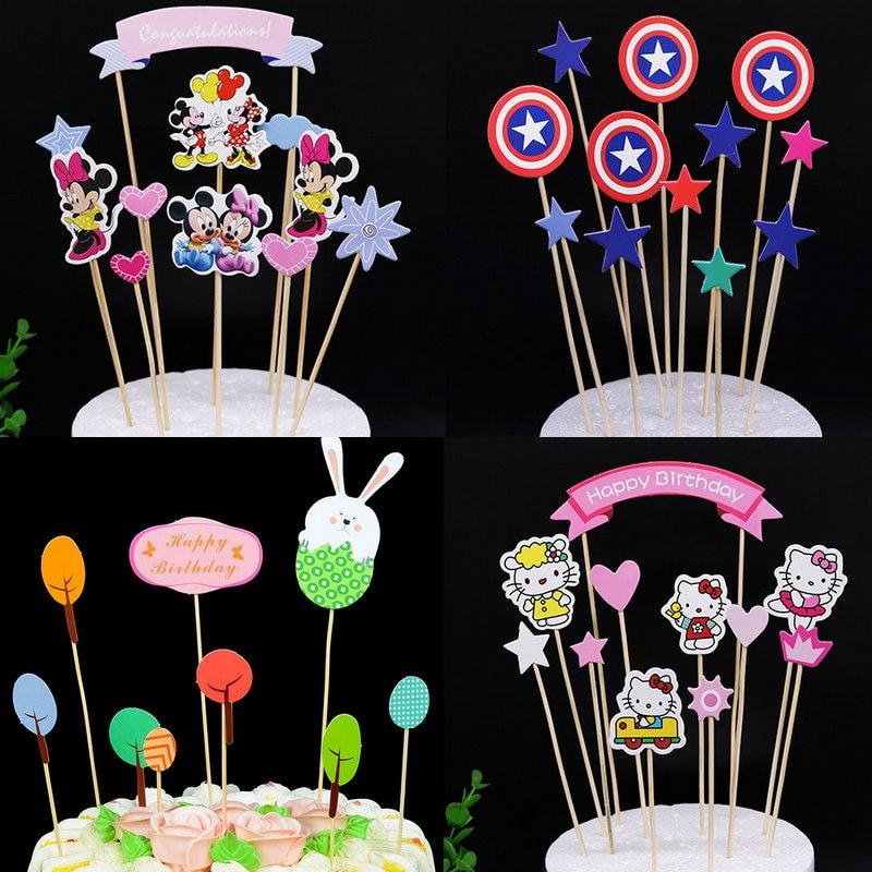 Fine 1 Set Hot Mickey Minnie Girl Cupcake Cake Topper Cartoon Cake Personalised Birthday Cards Vishlily Jamesorg