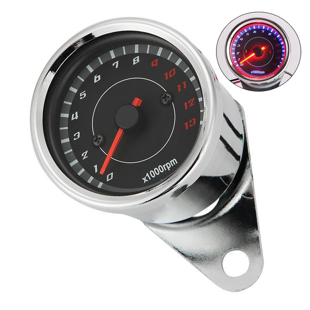 US $15 84 |Motorcycle Tachometer LED Backlight Speedometer Tacho Gauge  13000RPM For Harley Dyna Road King Electra Glide Sportster Choppers-in