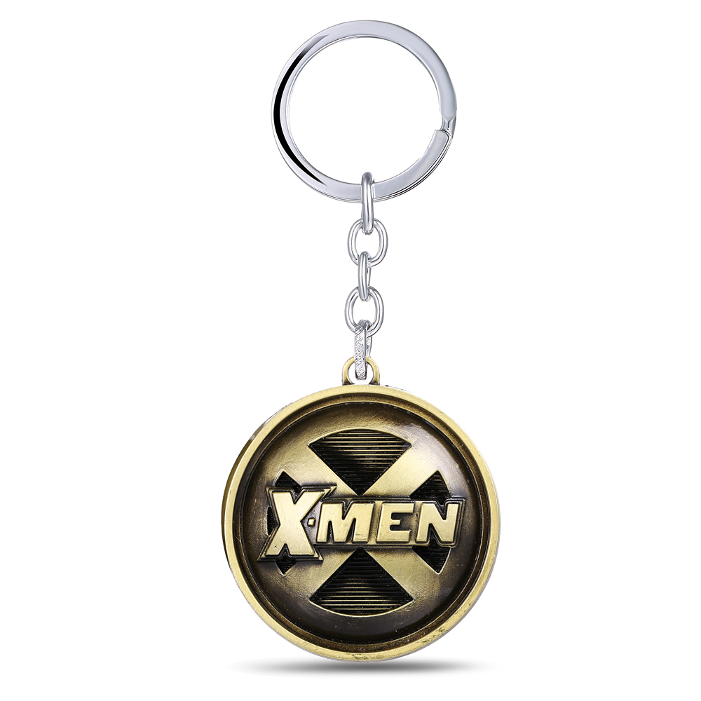 MS JEWELS X-Men Key Chain Bronze Alloy Metal Key Rings For Gifts Chaveiro Keychains 3 Colors