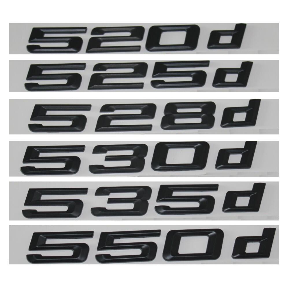 GLOSS BLACK BMW 535I REAR BOOT LETTER EMBLEM BADGE FOR 5 SERIES E60 E61 F10 F11