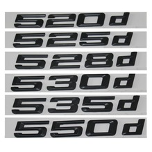 цена на Black 520d 525d 528d 530d 535d 550d Rear Boot Trunk Lid Letters Badge Emblem Emblems Badges for BMW 5 series E39 E60 E61 F10 F11