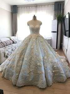 Image 5 - Vestido De Noiva luksusowe wysokiej jakości zroszony vintage kulka suknia ślubna suknie ślubne 2018 suknie ślubne suknia dla panny młodej Brautkleid mięta niebieski