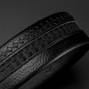 Image 5 - ביזון ינס אמיתי עור גברים חגורת זכר רצועת החגורה אוטומטית יוקרה רצועת גבוהה באיכות אופנה שחור חגורת לגברים מותג n71483