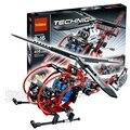 300 unids bela bloques de construcción técnica 3356 modelo de helicóptero de rescate médico playset realista juguetes compatibles con lego