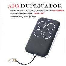 Doorhan benincà Porta Portão FAAC Sommer Handsender Replacment AIO Duplicador de Controle Rolling code código fixo 280-868 mhz