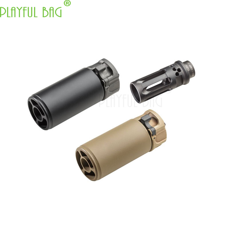 Outdoor Activities CS Toy Water Bullet Gun Duplicate Edition Enlarged Hole Muffler Fire Cap 3.5inch 5inch Upgrade Material MI92