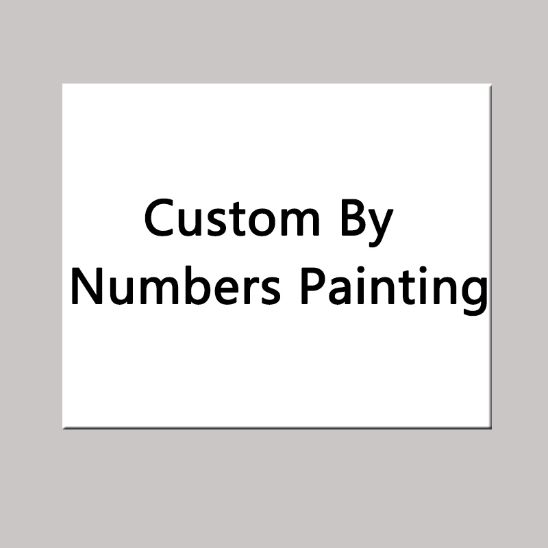 unframed Custom Made DIY painting by numbers Acrylic picture wall art canvas home decor unique gift 40x50cm artwork in Painting Calligraphy from Home Garden