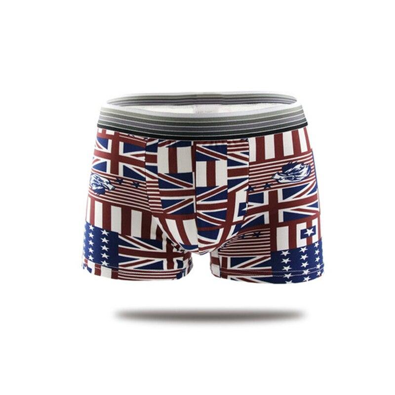 Valink New Fashion Men Flag Underwear Shorts Cotton Soft Comfortable Underpants Panties Men's Boxers Male Underwear Cueca