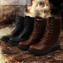купить Big Size Men Outdoor Sneakers Genuine Leather Hiking Shoes High Top Quality Martin Boots Camping Tooling Tactical Shoes Desert дешево