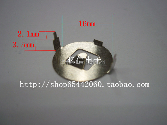 CR1632 Button Cell Battery Holder Cassette Retainer Snap Free Shipping with Tracking Number