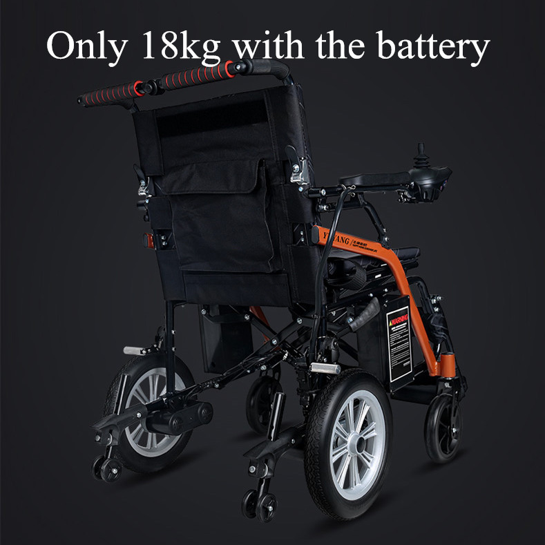 2019 New model foldabled lightweight electric wheelchair can be put into the truck 3
