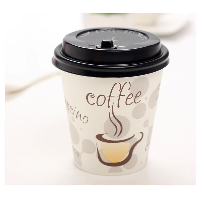 Natural Pulp 300ml 50 Pcs Lot Disposable Thicken Paper Coffee Cup