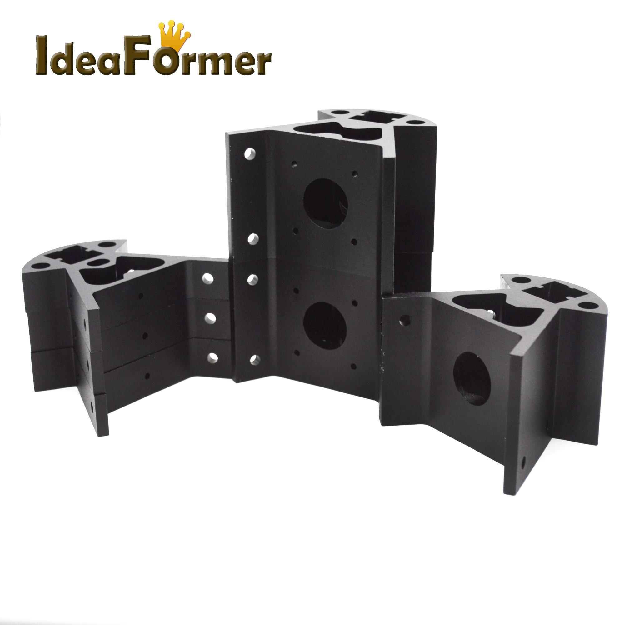 Image 4 - 1 set Corners 3D printer parts  Frame Reprap All metal Delta 3  small Top 3 big bottom 2020 Aluminum profile Vertex Kossel3D Printer  Parts