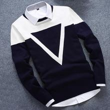 New Design 3 Colos Fashion Man Sweater Men Casual Cotton Fall Autumn Mens Sweaters Keep Warm