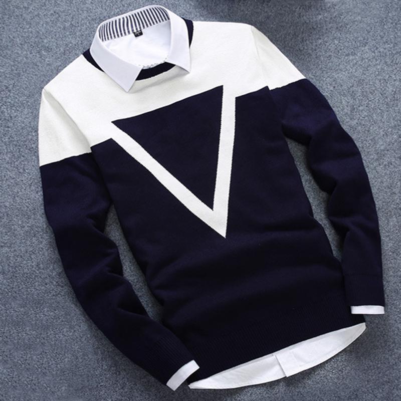 Nuevo diseño 3 colores Moda hombre suéter hombres Casual algodón otoño hombres suéteres mantener caliente invierno tirón Homme