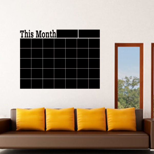Monthly chalkboard Chalk Board Blackboard Removable Wall ...