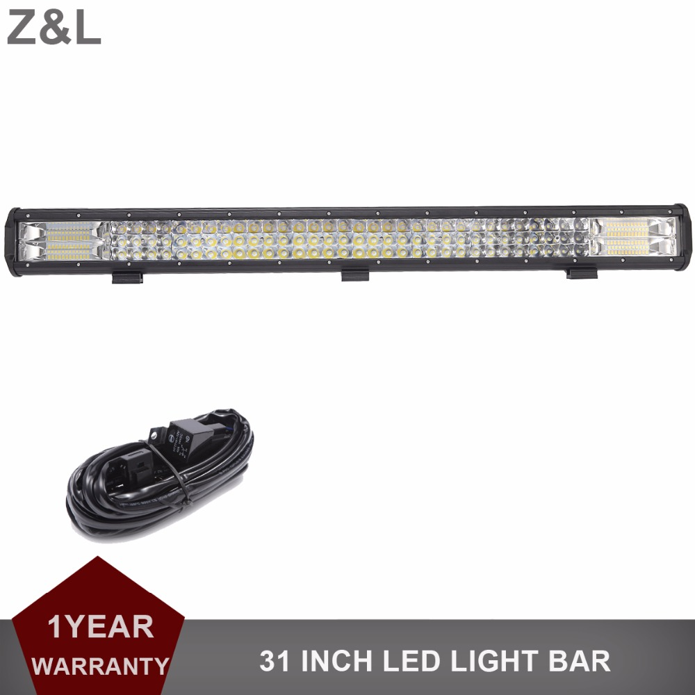 Offroad 31 INCH LED Light Bar Car Tractor Truck SUV ATV Pickup Camper Boat Trailer 4WD ATV 4X4 12V 24V Wagon RZR Driving Lamp 4d for philips led bar 120w 12 spot led light bar offroad atv truck 4x4 utv 4wd truck rzr 12v 24v camper tractor page 1