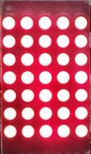 БЕСПЛАТНАЯ ДОСТАВКА 10 ШТ. х 3 мм 5*7 Красный Круглый СВЕТОДИОДНЫЙ Матричный цифровой Трубки 5×7 Общий Катод СВЕТОДИОДНЫЙ Дисплей Модуль 1057AS Для Лифта