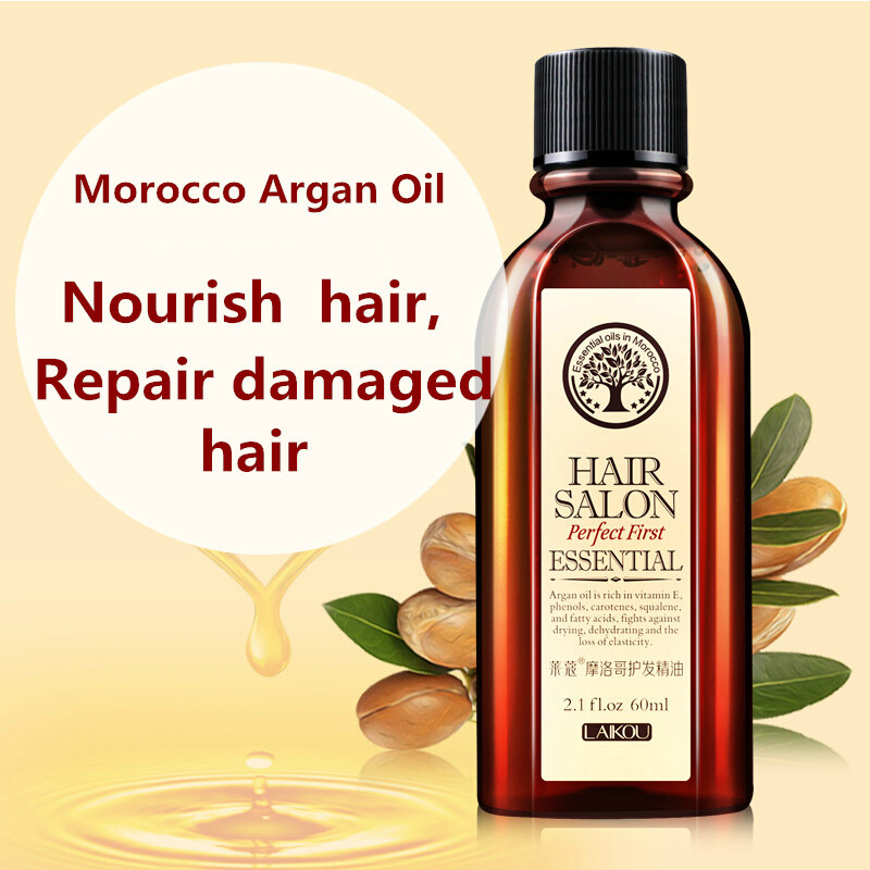 New LAIKOU Morocco argan oil Hair care keratin 100% PURE gly