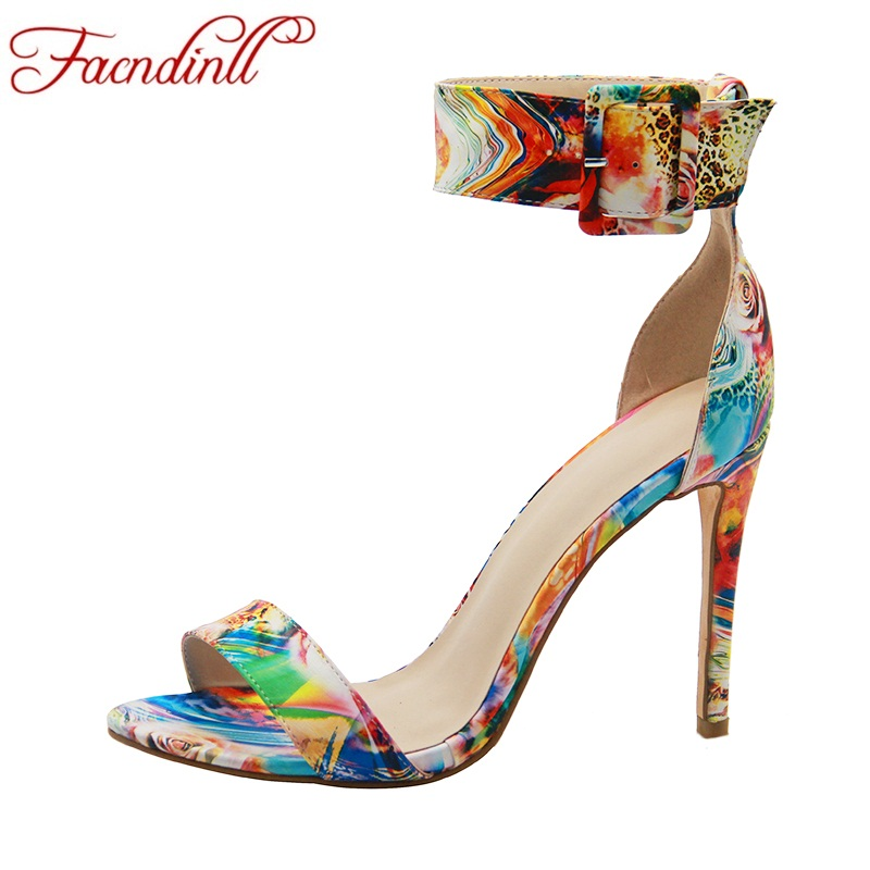 FACNDINLL mixed color 2018 new fashion summer women gladiator sandals sexy thin high heel open toe shoes woman dress party shoes british fashion sandals black white mixed color high heels shoes woman gladiator huarache open toe chaussure femme dress booties