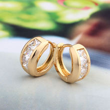 Женские маленькие серьги кольца украшение для ушей из золота