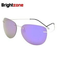 850f3d89dc El nombre De la marca Unisex 12g Multi-Espejo polarizado De titanio Gafas  De Sol