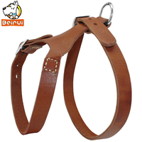 100 Handmade Real Genuine Leather Dog Harness Soft Comfortable For M Large Dogs