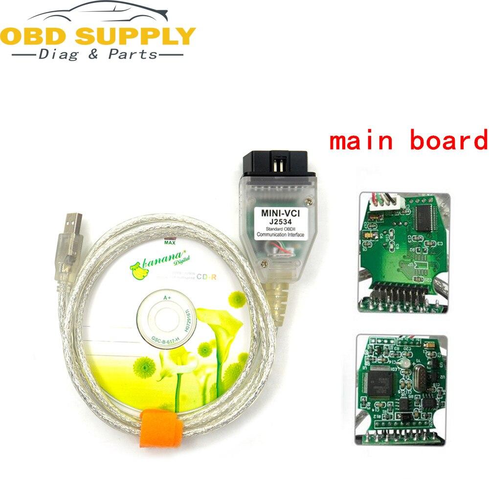 V10.30.029 mais recente MINI VCI Interface PARA TOYOTA TIS Techstream J2534 OBD2 OBDII Ferramenta de Diagnóstico