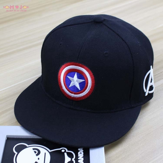 Marvel hero trucker hat Captain America Shield A Star baseball cap flat  alumni custom snapback embroidery bones 7fb7871f079