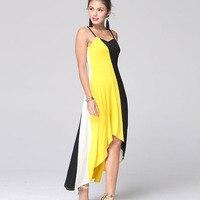 WomensDate Women Beach Party Dress 2017 Summer Sexy Sling Irregular Sleeveless Backless Mix Colors Maxi Dresses