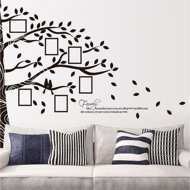 Bild Bilderrahmen Wand Aufkleber Halbe Baum Wandaufkleber Familie