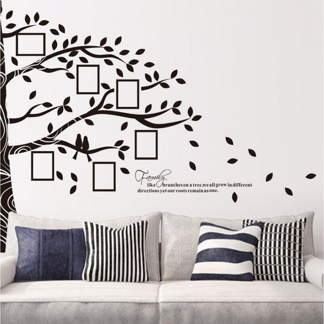 Picture Photo Frame Wall Stickers Half Tree Wall Sticker Family Tree Wall  Decal Tree Home Decors