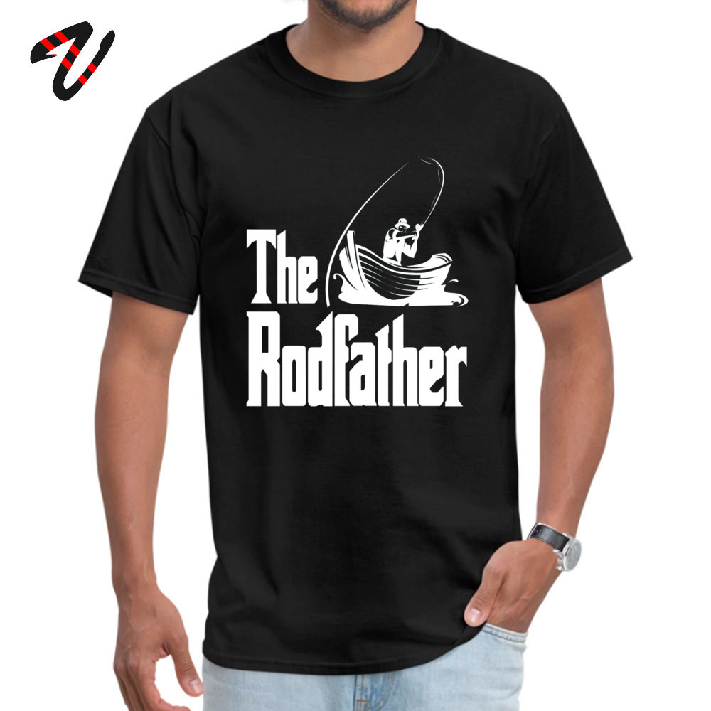 Mens Company Tops T Shirt Round Collar Summer Fall 100% Cotton Fabric T Shirt Customized The Rodfather (white) Tops T Shirt The Rodfather (white)  -24293 black