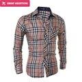 Dropshipping Venda Quente Algodão Completa Regular Camisas Camisa Dos Homens Outono E Inverno Casual Manga Comprida Camisa dos homens Clássicos, gx156