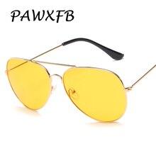 PAWXFB Brand New Vintage Pilot Sunglasses Unisex Metal Driving Sun Glasses Luxury Oculos de sol Feminino 400UV Shades