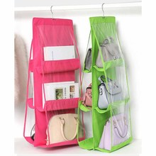Double-sided Six-layer Hanging Bag Double Sided Folding Clothes Pouch Storage Organizer Large Capacity
