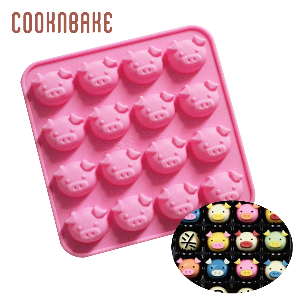 3D Cake Pig Silicone Mold Cake Candy Chocolate Ice Cream Jello Mould Kitchen DIY