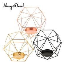 fbe7742691 MagiDeal 2Pcs Geometric Design Iron Wire Hexagon Tealight Candle Holder  Candleholders Weddding Holidays Christmas Decorations(