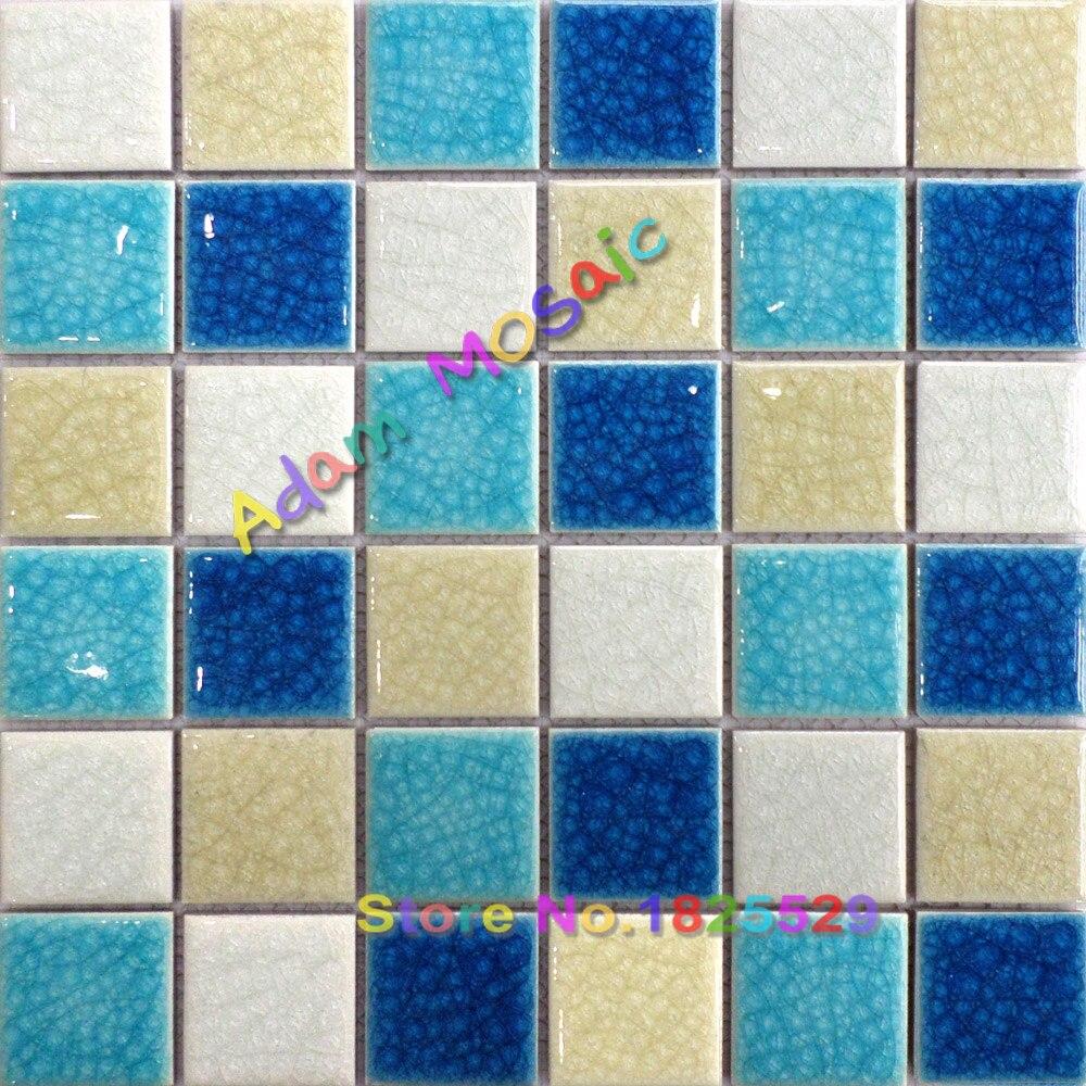 swimming pool tile for bathrooms muti color mosaic subway backsplash ...
