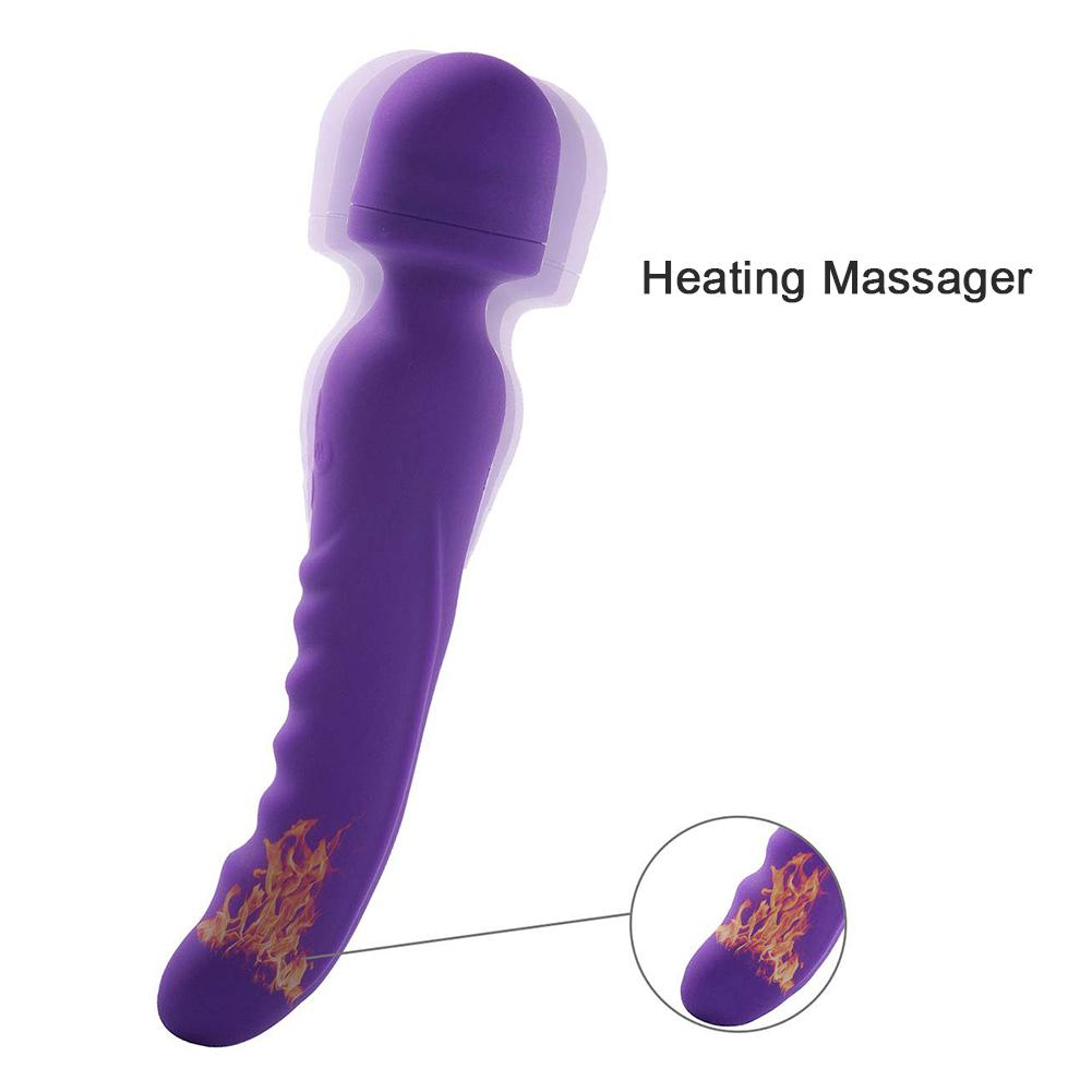 RABBITOW USB Rechargeable Cordless Waterproof Double Head Magic Mini Wand Massager Multi Speeds Powerful Vibration for Women RABBITOW USB Rechargeable Cordless Waterproof Double Head Magic Mini Wand Massager Multi Speeds Powerful Vibration for Women