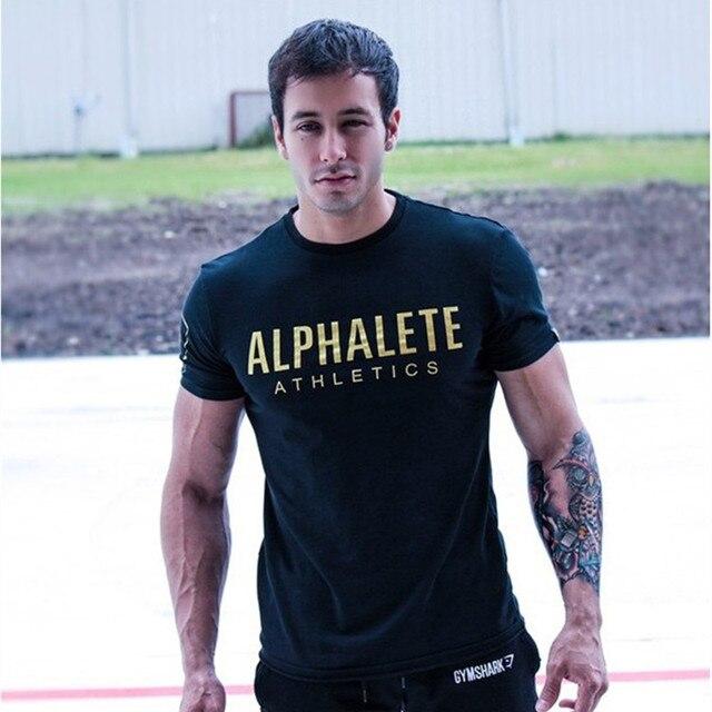 Новый 2016 фитнес хлопок марка одежды для мужчин Животных печати костюм футболка мышцы рубашка бодибилдинг Tee большой XXL
