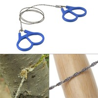 Outdoor Emergency Survival Gear Plastic Steel Wire Saw Ring Scroll Travel Camping Hiking Hunting Climbing Survival Tool