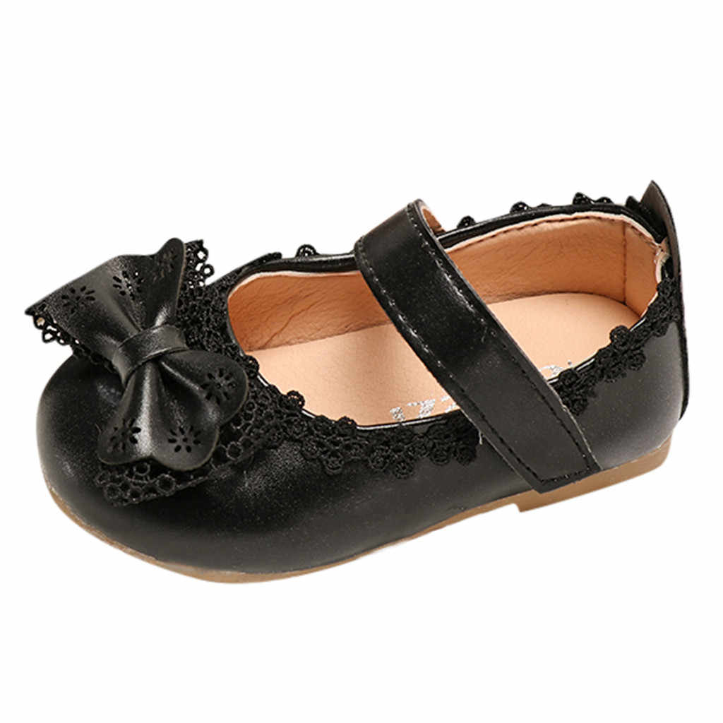 طفل رضيع الاطفال طفل الفتيات BowKnot واحدة الأميرة أحذية الصنادل Zapatos الفقرة نينو دي أركو Suave أدنى Zapato دي الأمير