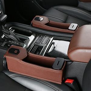 Image 3 - 1 soporte para hueco de asiento de coche estuche de almacenamiento para automóvil portavasos organizador de bebidas cargador de teléfono automático con cargador de coche de 12V soporte para teléfono