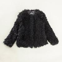Короткая шуба из меха ягненка 100% натуральный мех шуба jexxi Высокое качество для женщин зимнее пальто для женщин
