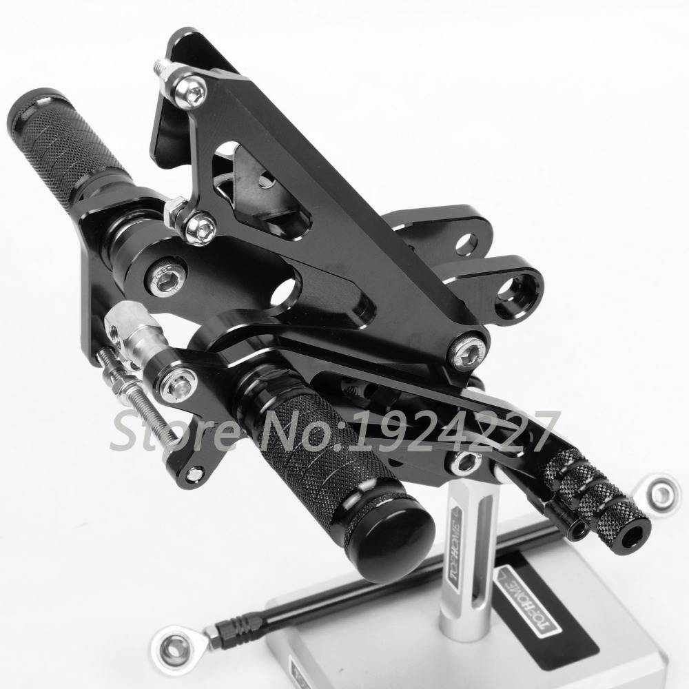 Motorcycle Footrest Adjustable Foot Pegs Rearsets For Honda NC30 RVF400 NC35 All Years Hot High-quality Motorcycle Foot Pegs