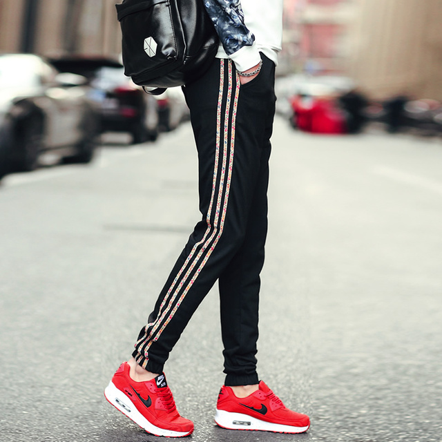 Men casual pants yeezy men Palace Thrashe Men's color side stripe casual trousers Stylish and comfortable large size men