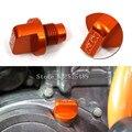 Envío libre 2016 de orange cnc de aluminio del motor de la motocicleta de aceite magnético Tapón de drenaje Perno Tornillo Accesorios Para KTM DUKE 125 200 390